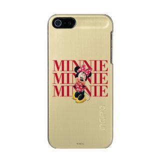 Nombre rojo de Minnie el | Carcasa De Iphone 5 Incipio Feather Shine