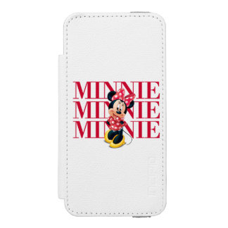 Nombre rojo de Minnie el | Funda Billetera Para iPhone 5 Watson