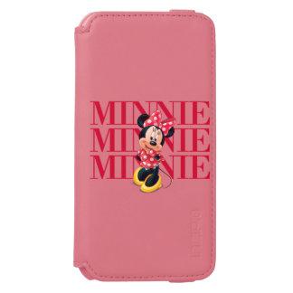 Nombre rojo de Minnie el | Funda Billetera Para iPhone 6 Watson