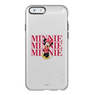 Nombre rojo de Minnie el | Funda Para iPhone 6 Plus Incipio Feather Shine