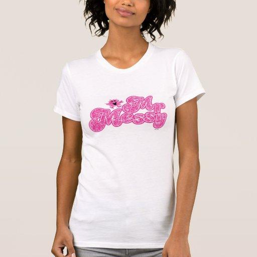 Nombre rosado chispeante de Sr. Messy el | Tshirt