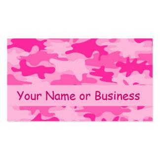 Nombre rosado del camuflaje de Camo personalizado Tarjetas De Visita
