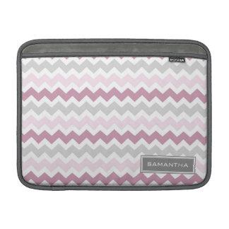 Nombre rosado del personalizado de Macbook Ombre C Fundas Para Macbook Air
