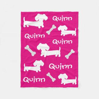 Nombre rosado del personalizar de la manta del manta de forro polar