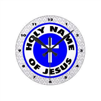 Nombre santo de Jesús Reloj Redondo Mediano
