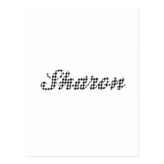 Nombre Sharon de la impresión de Houndstooth Postal
