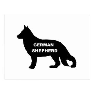 nombre silo.png del pastor alemán tarjetas postales