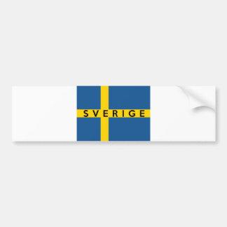 nombre sueco del texto del país de la bandera del  etiqueta de parachoque
