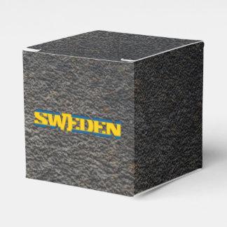 Nombre sueco y bandera cajas para regalos