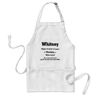 Nombre Whitney Delantal