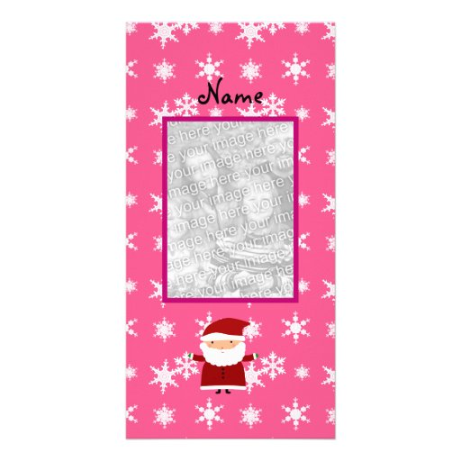 Nombre y añada su propia foto santa los copos de n tarjeta personal con foto