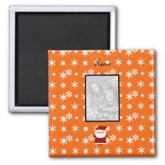 Nombre y añada su propio copo de nieve del naranja imán de nevera