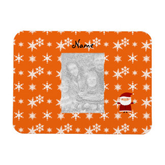 Nombre y añada su propio copo de nieve del naranja iman