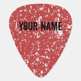 Nombre y color personalizados púa de guitarra del