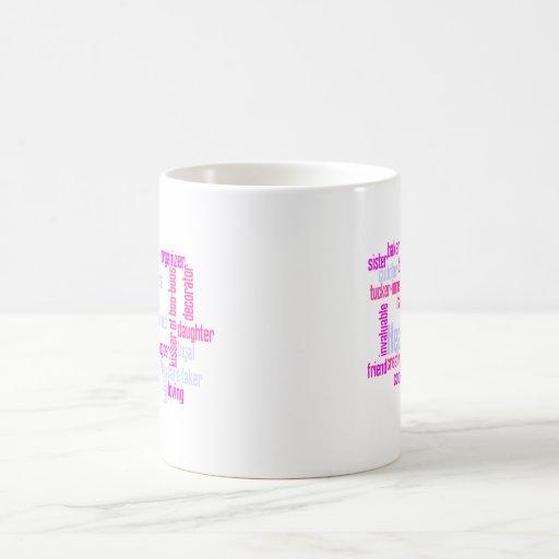 Nombre y descriptivo personalizados taza