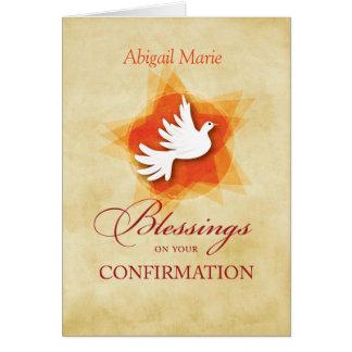 Nombre y fecha de encargo, enhorabuena de la tarjeta de felicitación