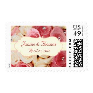 Nombre y fecha de encargo que casan franqueo nupci sello postal