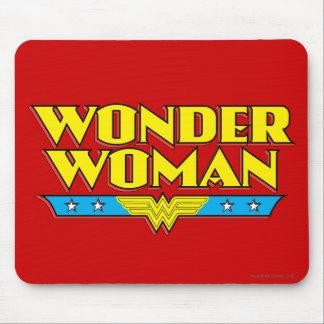 Nombre y logotipo de la Mujer Maravilla Mousepads
