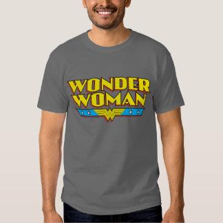 Nombre y logotipo de la Mujer Maravilla Playera