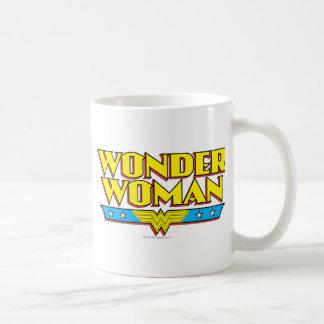 Nombre y logotipo de la Mujer Maravilla Taza De Café