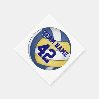 Nombre y número del equipo del voleibol servilletas desechables