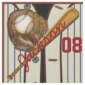 Nombre y número del guante de la bola de bate de telas