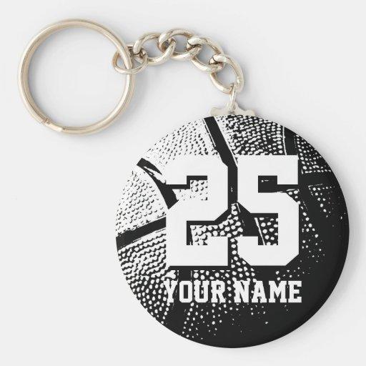 Nombre y número personalizados del llavero el   de