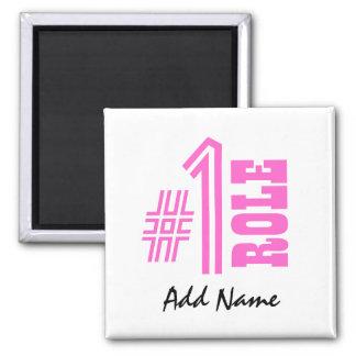 Nombre y papel de encargo Z501A del número uno Imán Cuadrado