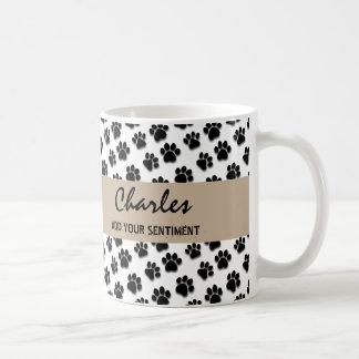 Nombre y sentimiento de encargo V01A de las patas Tazas De Café