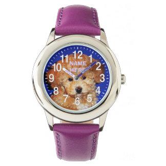 NOMBRE y SUS relojes lindos del perrito de la FOTO