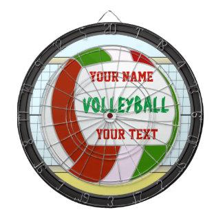 Nombre y texto personalizados del voleibol