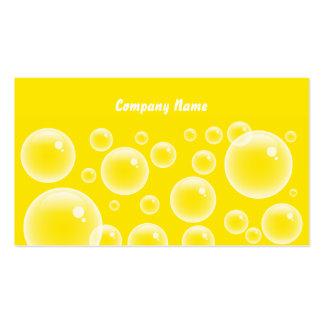 Nombre Yellow Bubbles, Company Tarjeta De Visita