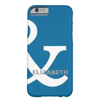 Nombres blancos azules de los amantes del signo funda para iPhone 6 barely there