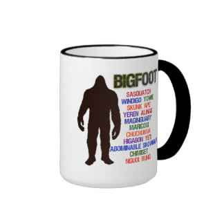 Nombres de Bigfoot Taza A Dos Colores