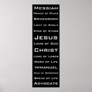 Nombres de Cristo Póster