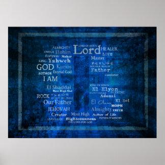 Nombres de dios, imagen santa de los nombres póster