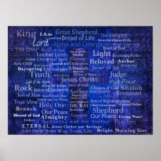 Nombres de Jesús - arte cristiano contemporáneo