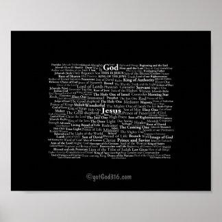 Nombres de Jesús gotGod316.com Póster