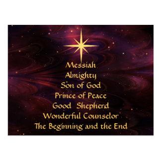 Nombres de Jesús - postal modificada para