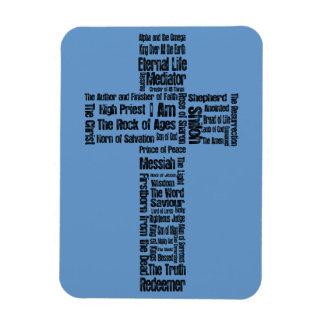 Nombres de la cruz de Jesús Imán Flexible