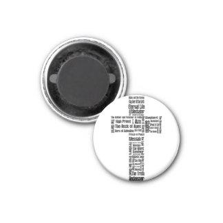 Nombres de la cruz de Jesús Imán Redondo 3 Cm