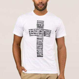 Nombres de la cruz de Jesús Playera