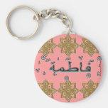 Nombres del árabe de Fatimah Fatema Llaveros Personalizados