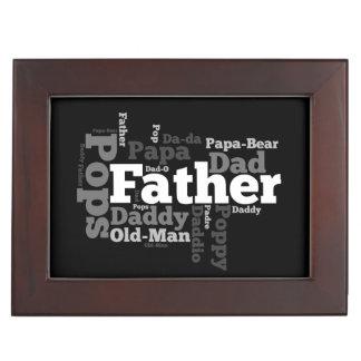 Nombres del collage del día de padre del papá caja de recuerdos