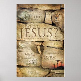 NOMBRES del JESUCRISTO - posters cristianos del Póster