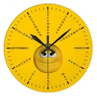 Nombres del mes reloj redondo grande