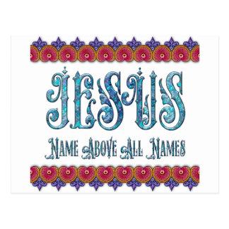 Nombres del nombre de JESÚS sobre todo Postales