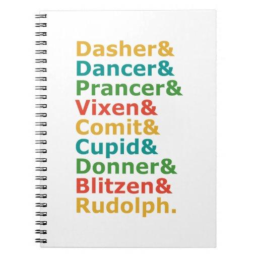 Nombres del reno cuadernos