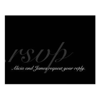 Nombres elegantes del monograma del boda de la pos tarjetas postales