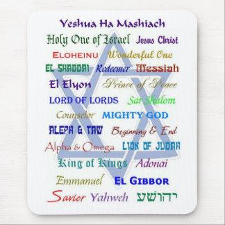Nombres mesiánicos alfombrilla de ratones